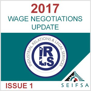 SEIFSA Wage Negotiations - Issue 01