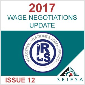 SEIFSA Wage Negotiations - Issue 12