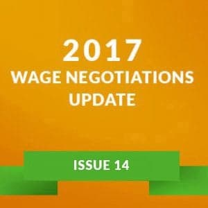 2017 Wage Negotiations Update